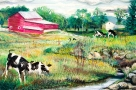 Cows: Red Barn